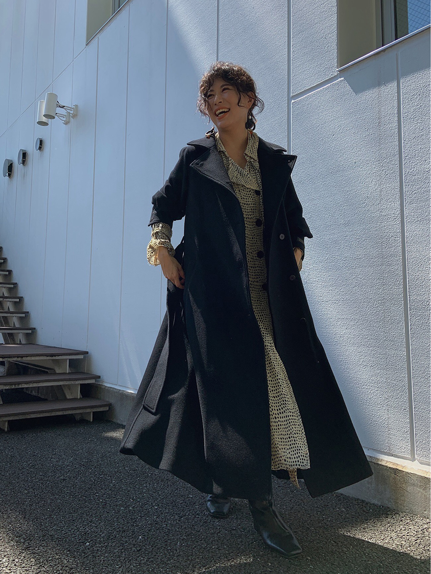 yuki_POOFY FLARE LONG COAT