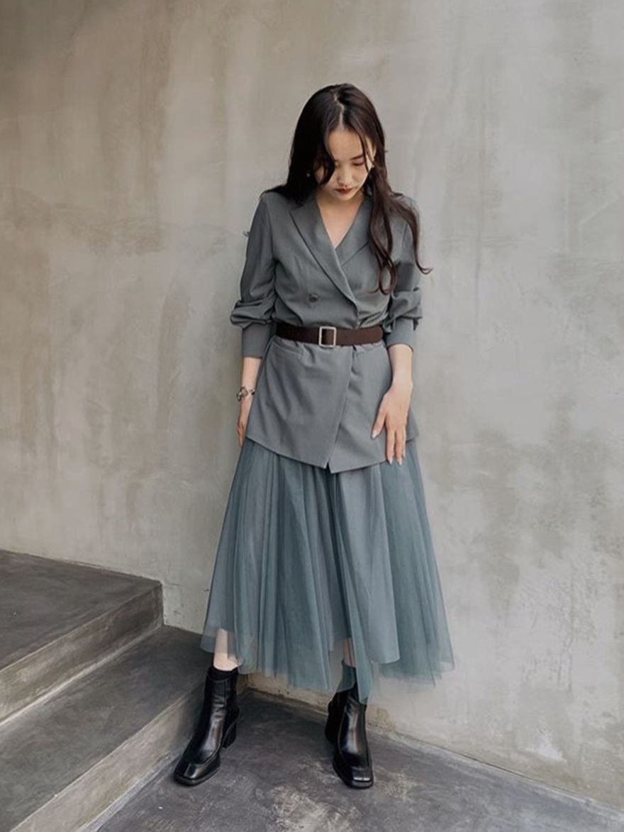 miyu_ TRINITY JKT TULLE DRESS