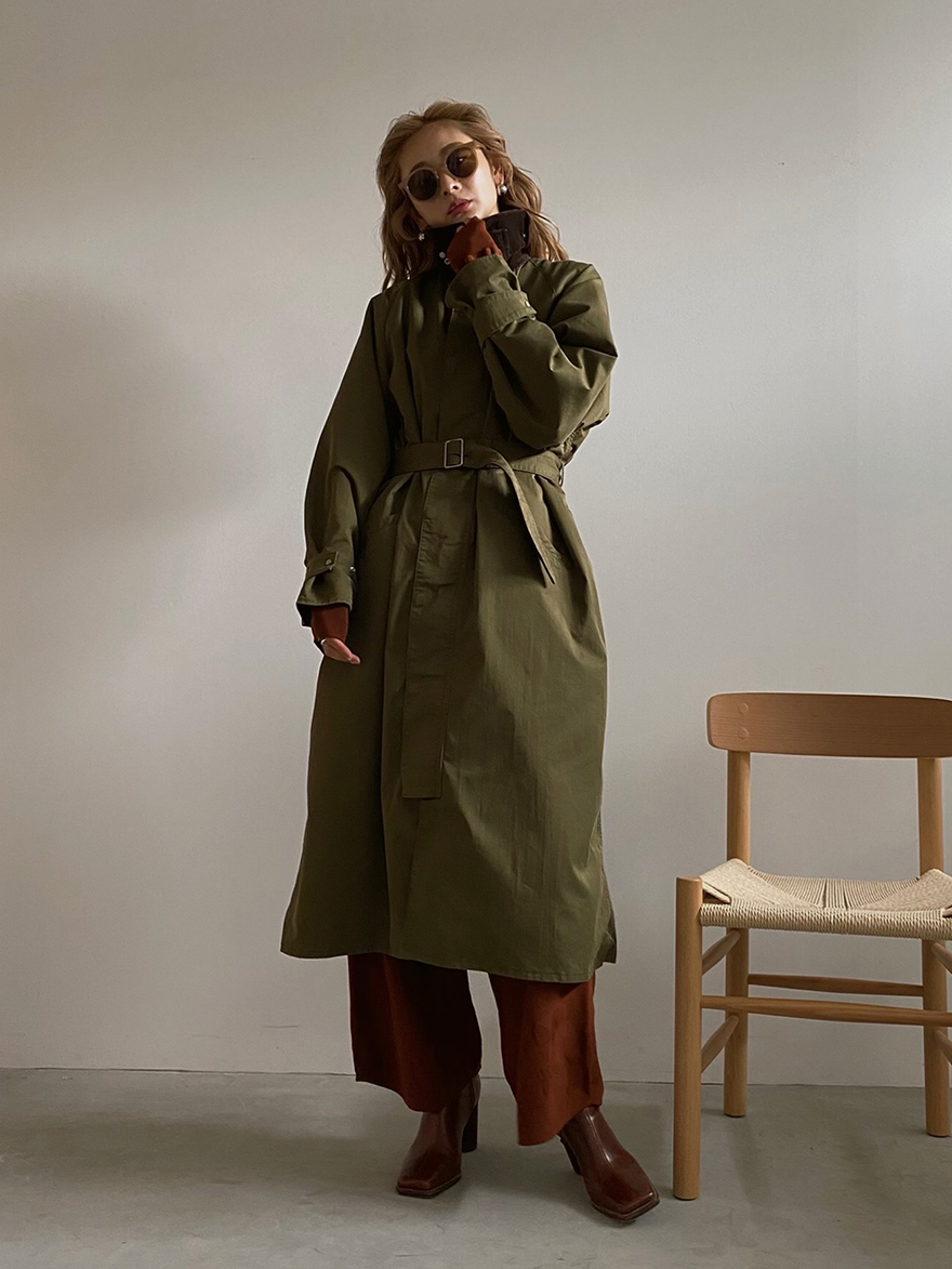 kae_CORDUROY COLLAR MILITARY COAT