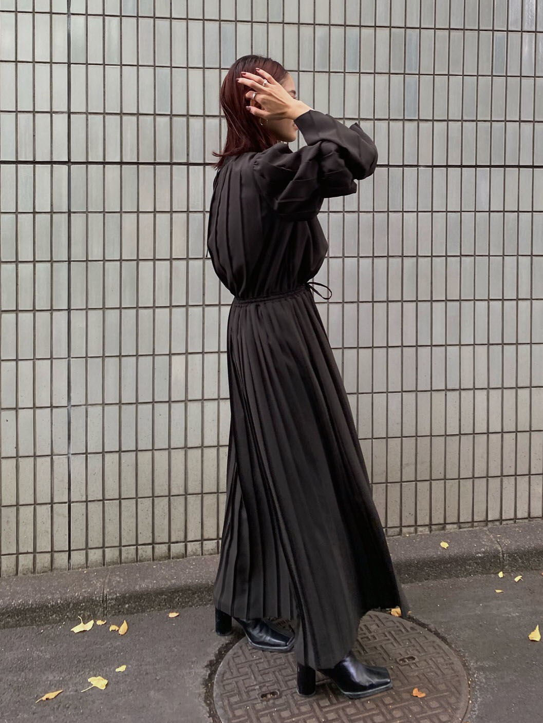 akane_UNDRESSED 2WAY PLEATS DRESS