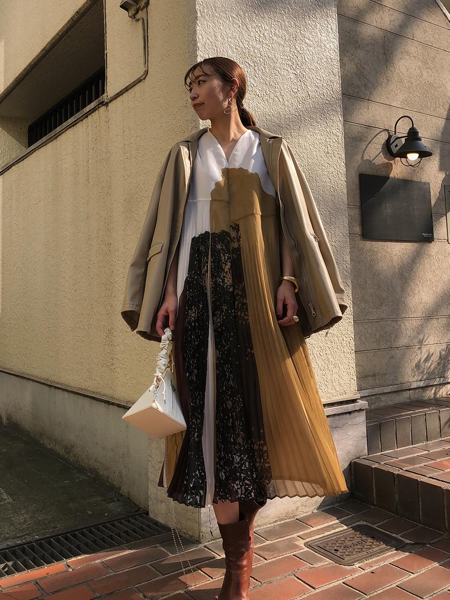 kaori_FUDE ART PLEATS DRESS