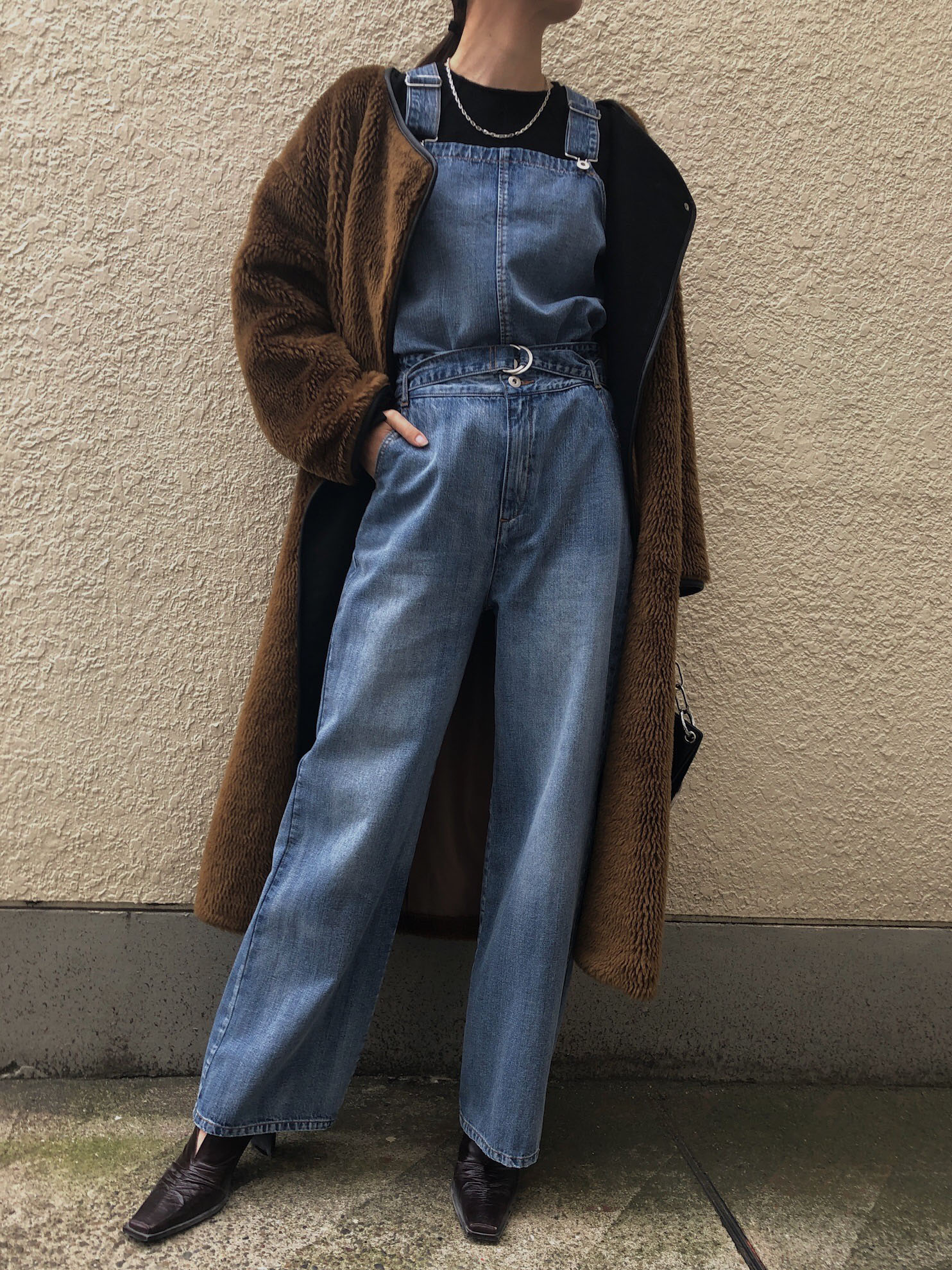 kaori_SET UP DENIM OVERALL