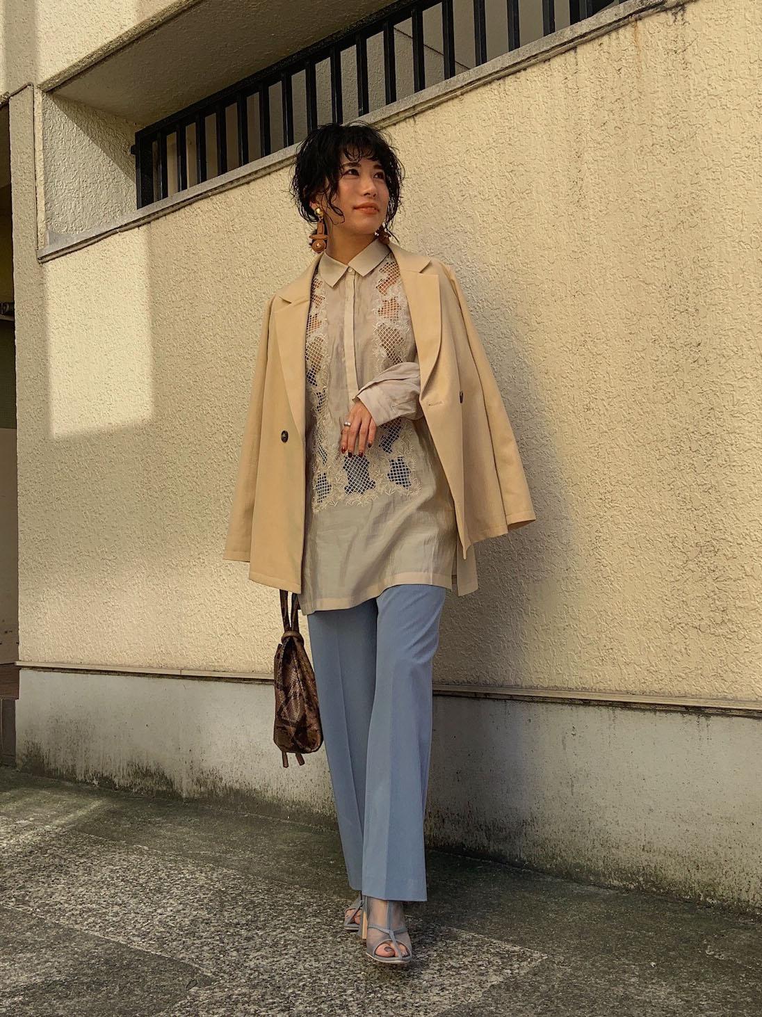 yuki_EMBROIDERY SHEER SHIRT