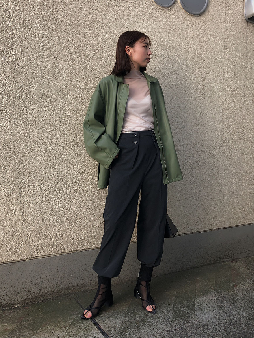 kaori_LAPEL TAPERED PANTS