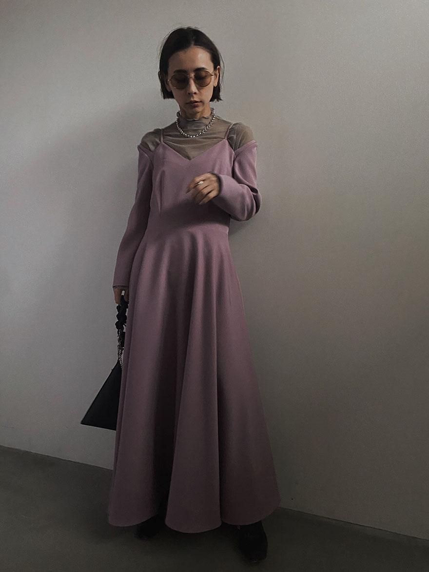 nao_SEETHROUGH SHOULDER DRESS
