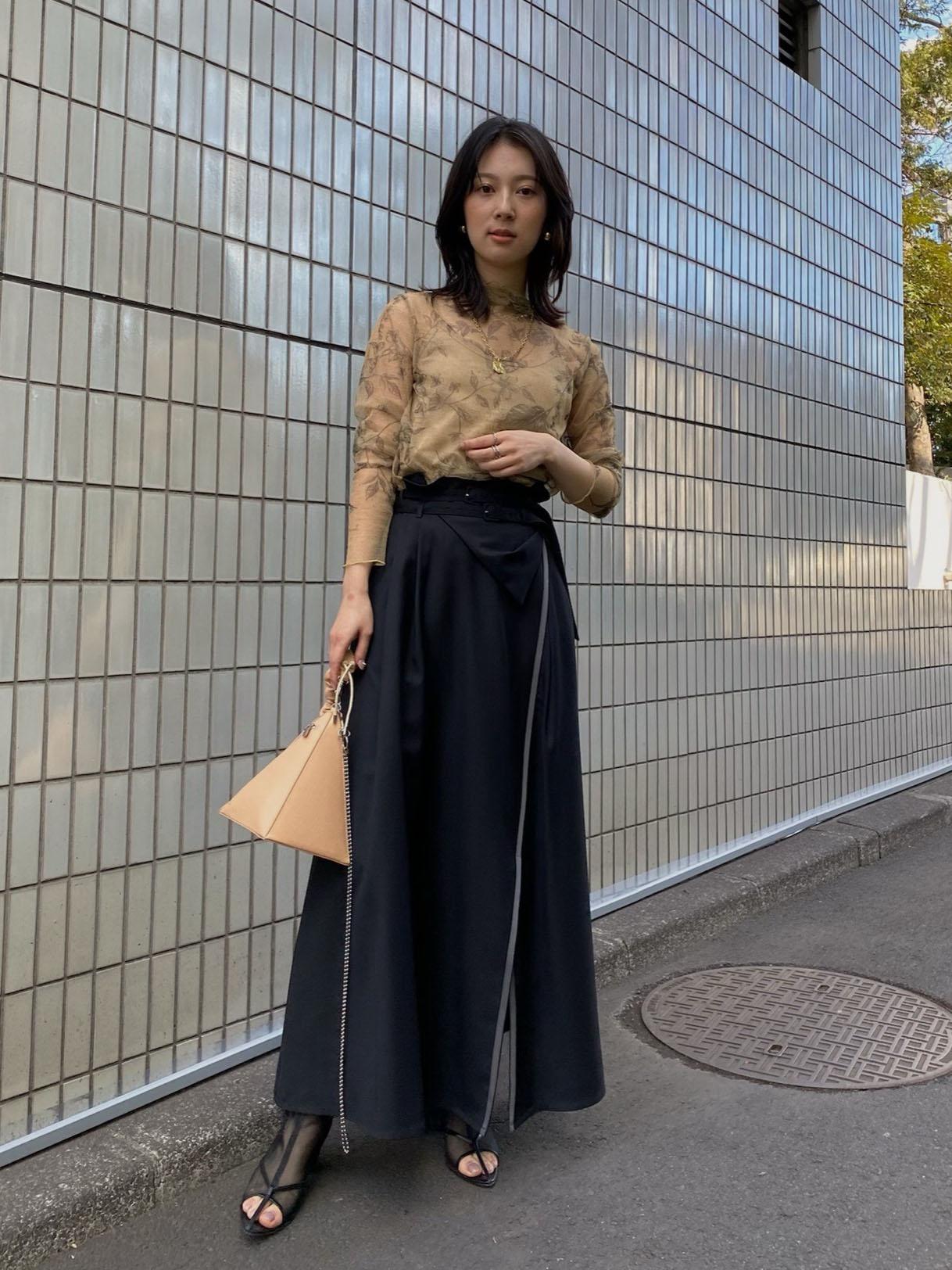 yu_HIGH WAIST WRAPPING SKIRT