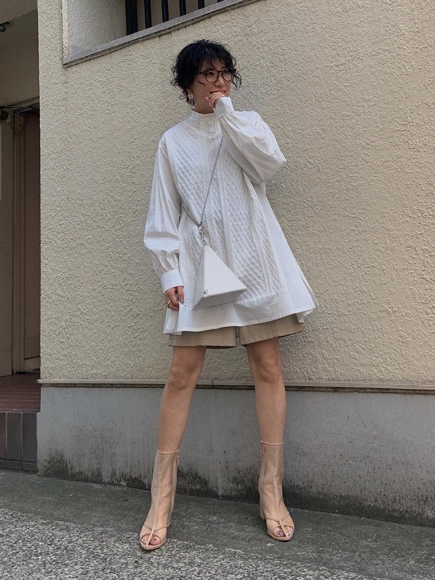 yuki_VEST DOCKING SHIRT