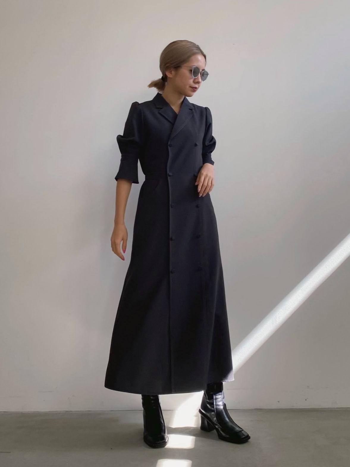 yuko_TAILOR SUSPENDER DRESS