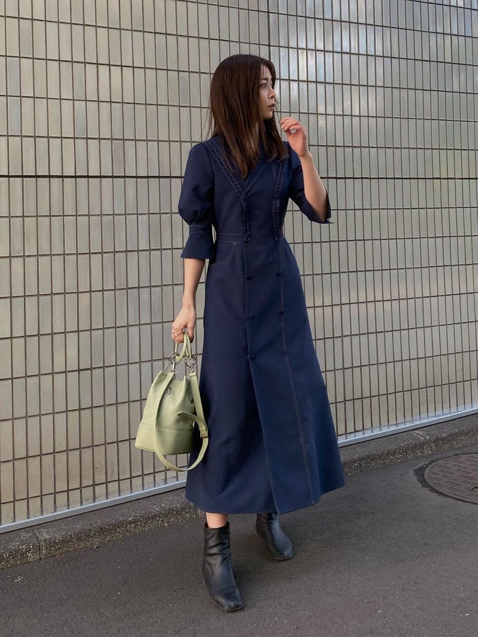 ayumi_TAILOR SUSPENDER DRESS