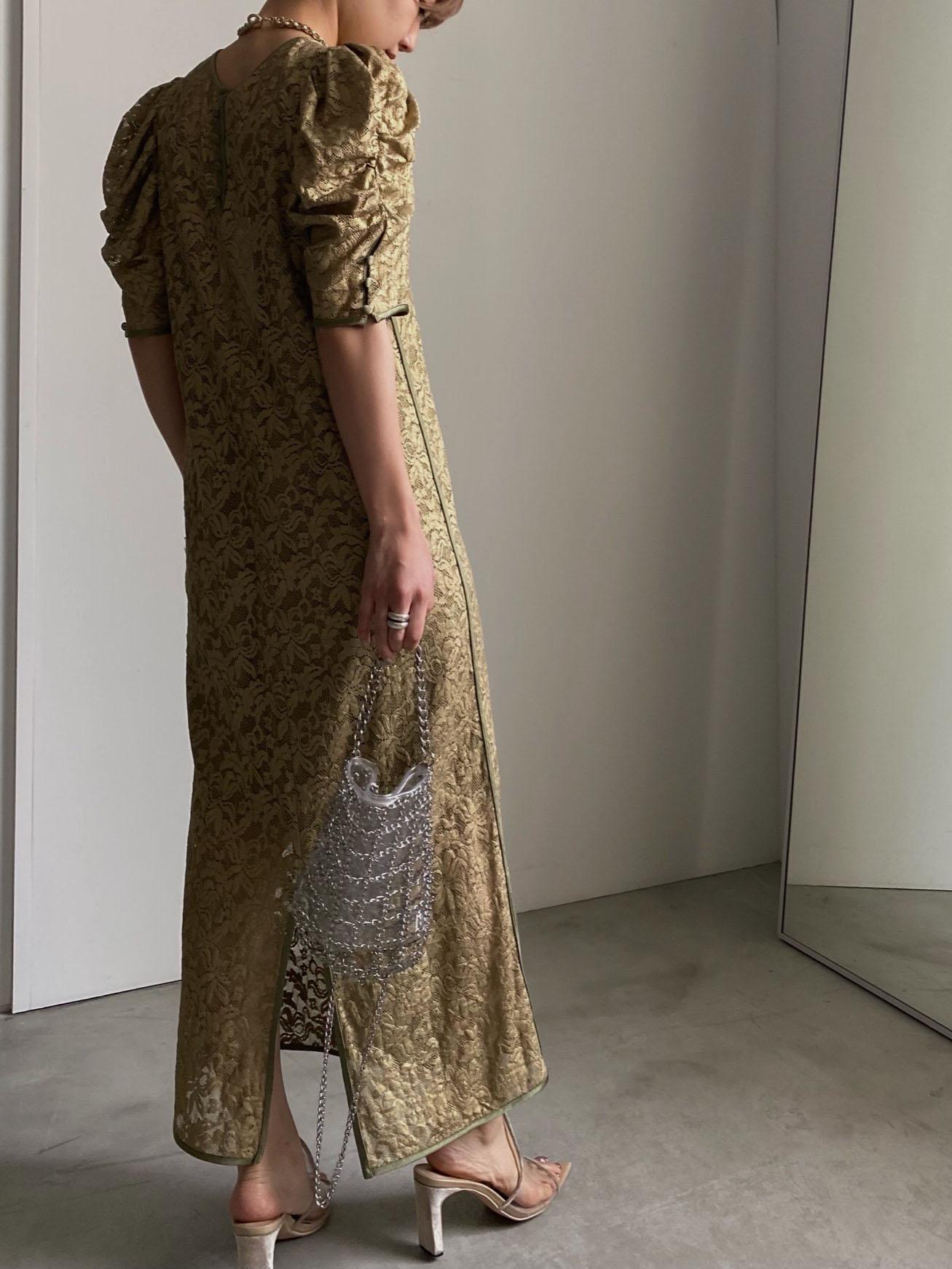 SUZU_SHINE COATING LACE DRESS