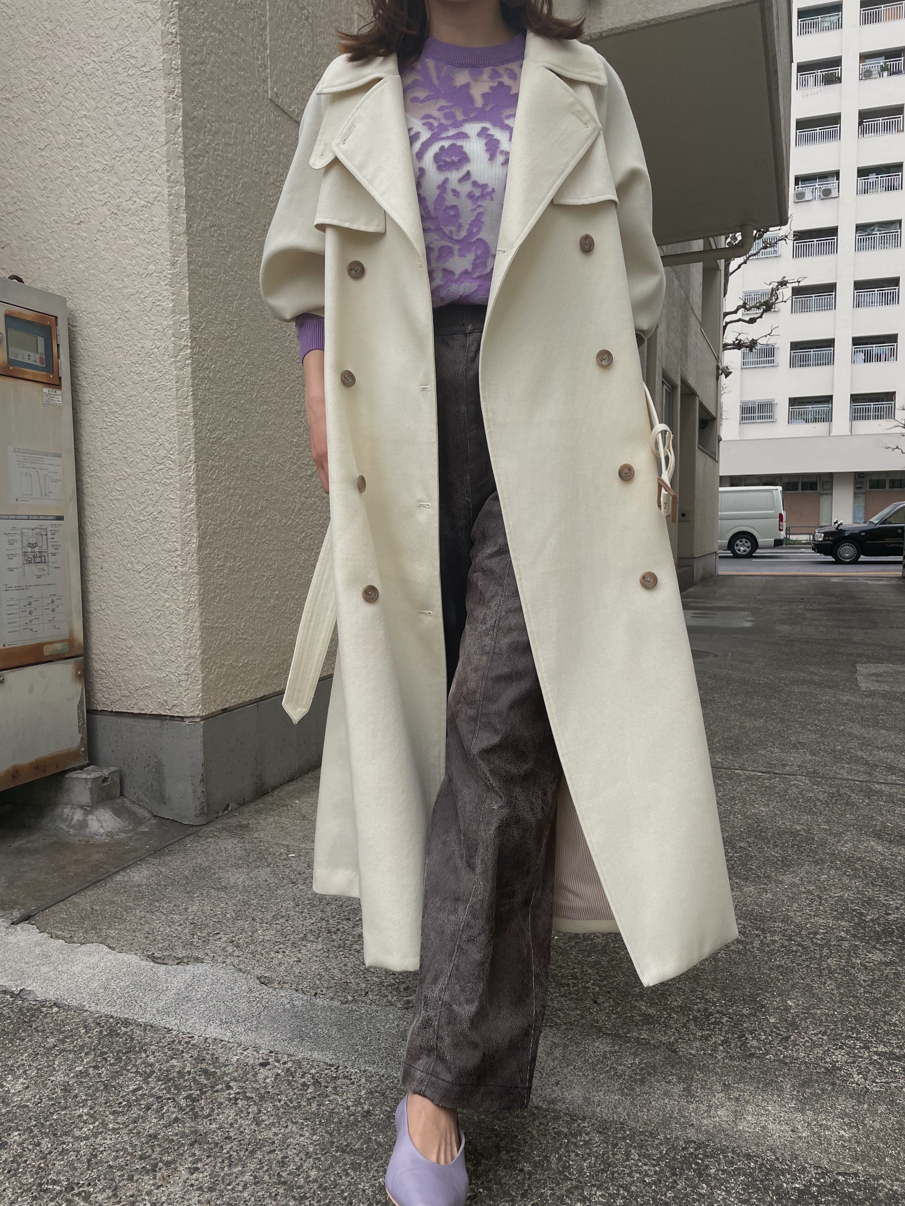 kaori_SUPERIOR FLARE TRENCH COAT