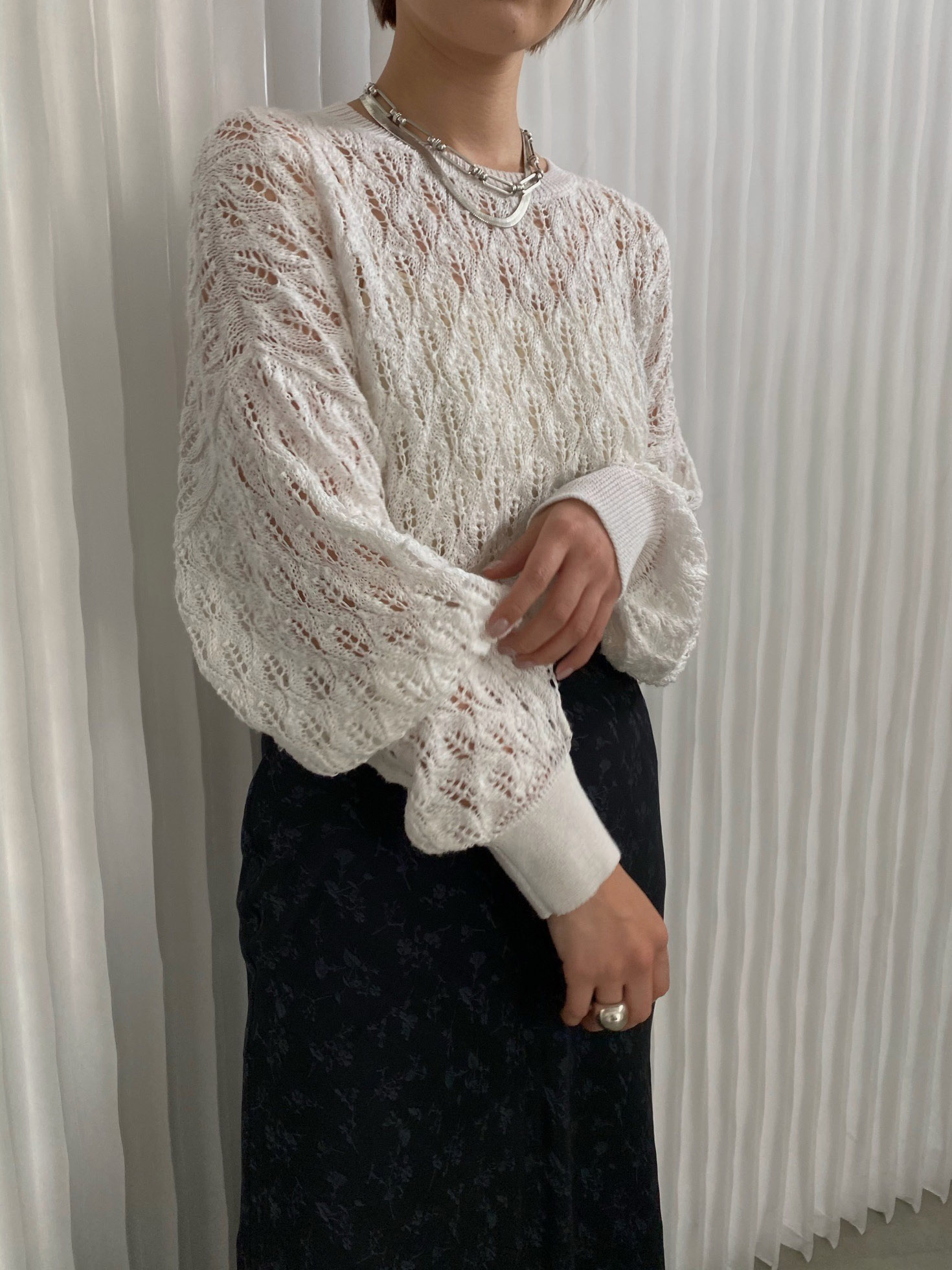 suzu_MEDI LOOSE CROCHET KNIT