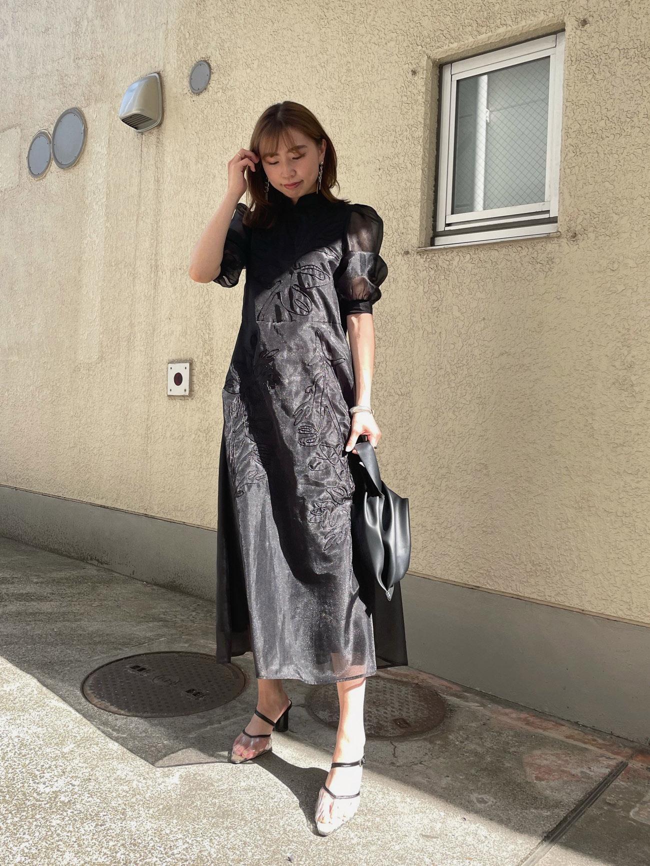 kaori_MEDI FOREST EMBROIDERY DRESS