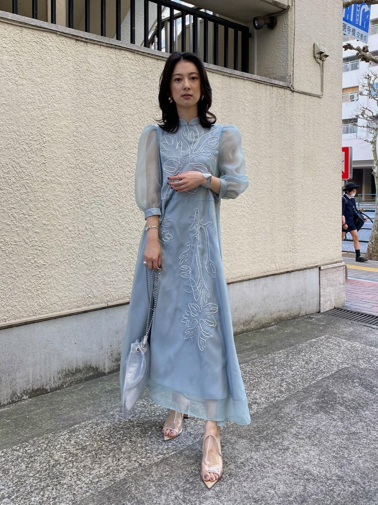 yu_MEDI FOREST EMBROIDERY DRESS