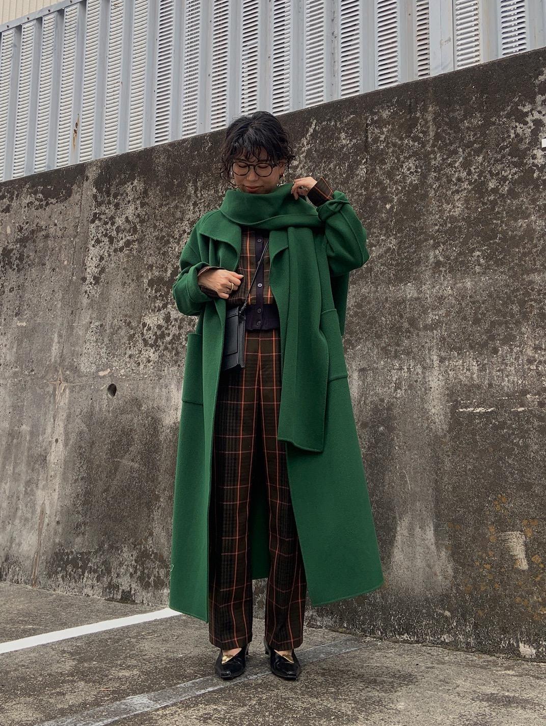 yuki_STAND COLLAR SCARF COAT