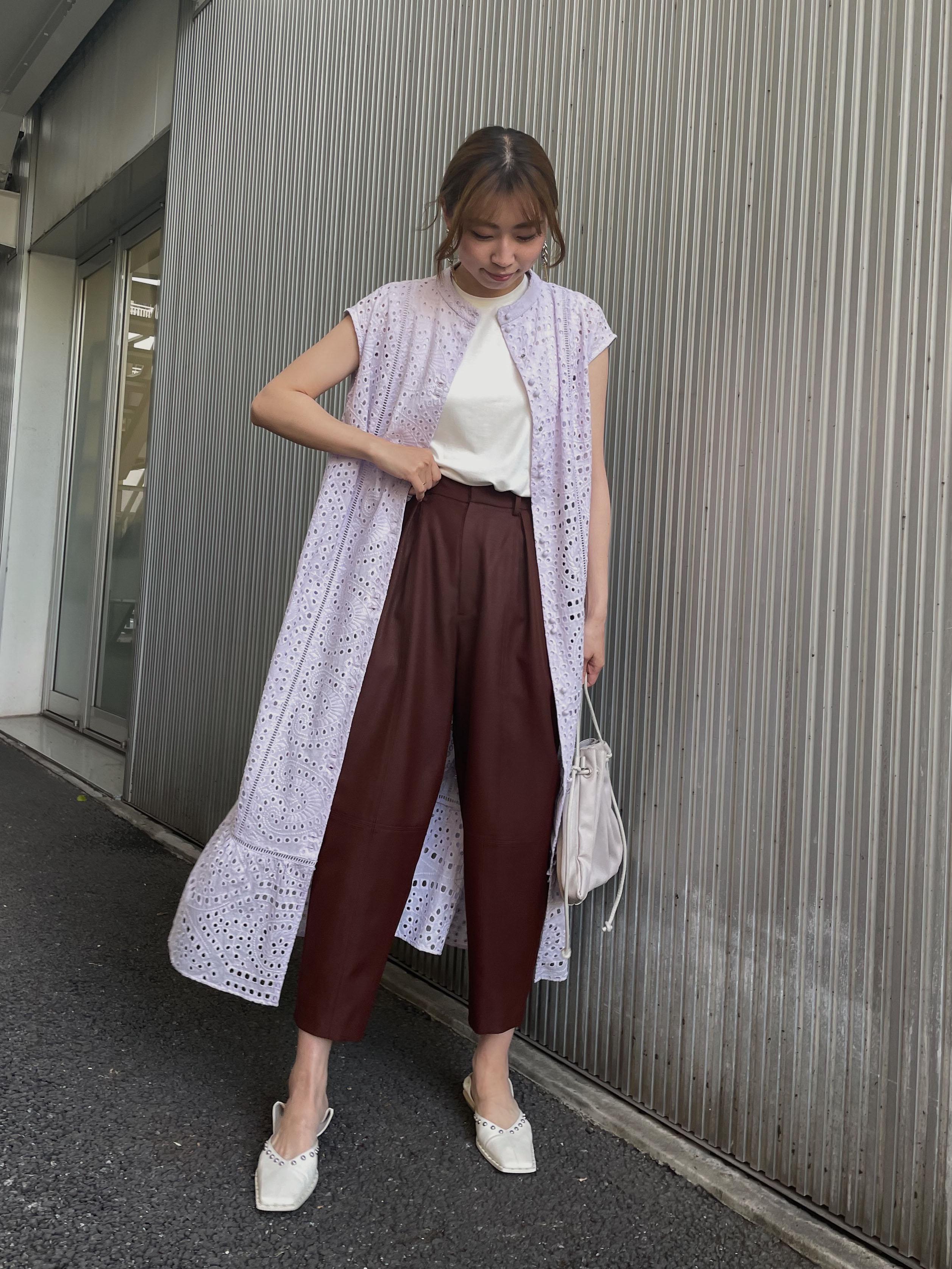 KAORI_EYELET LACE SHIRT DRESS