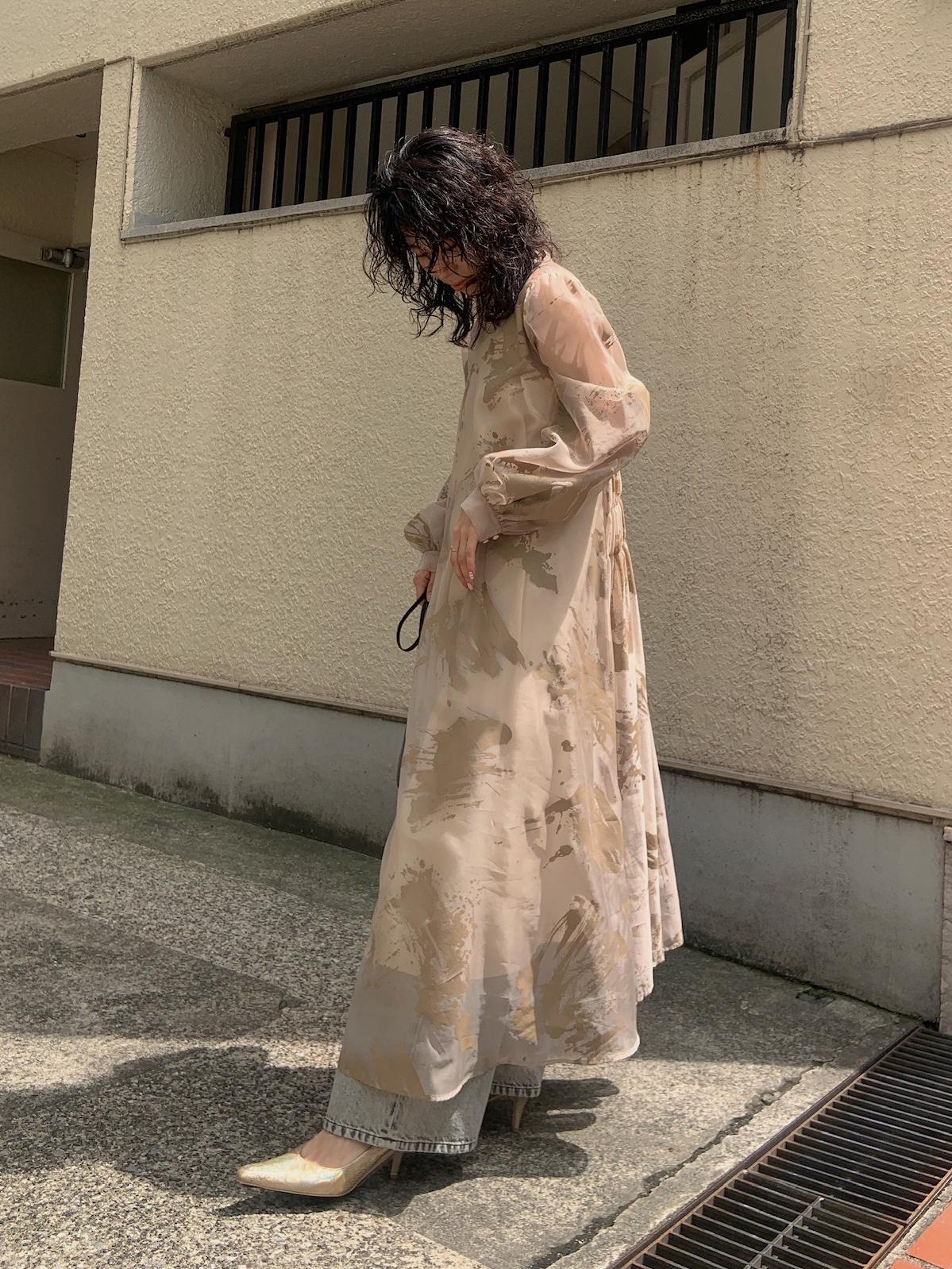 yuki_RUBBER PAINT ART SHEER DRESS