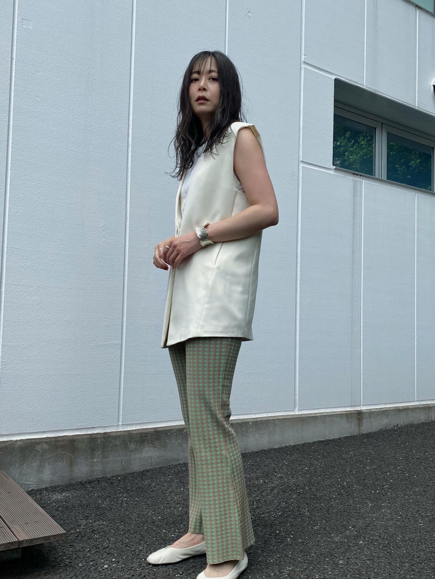 ayumi_COLORFUL GINGHAM CHECK PANTS