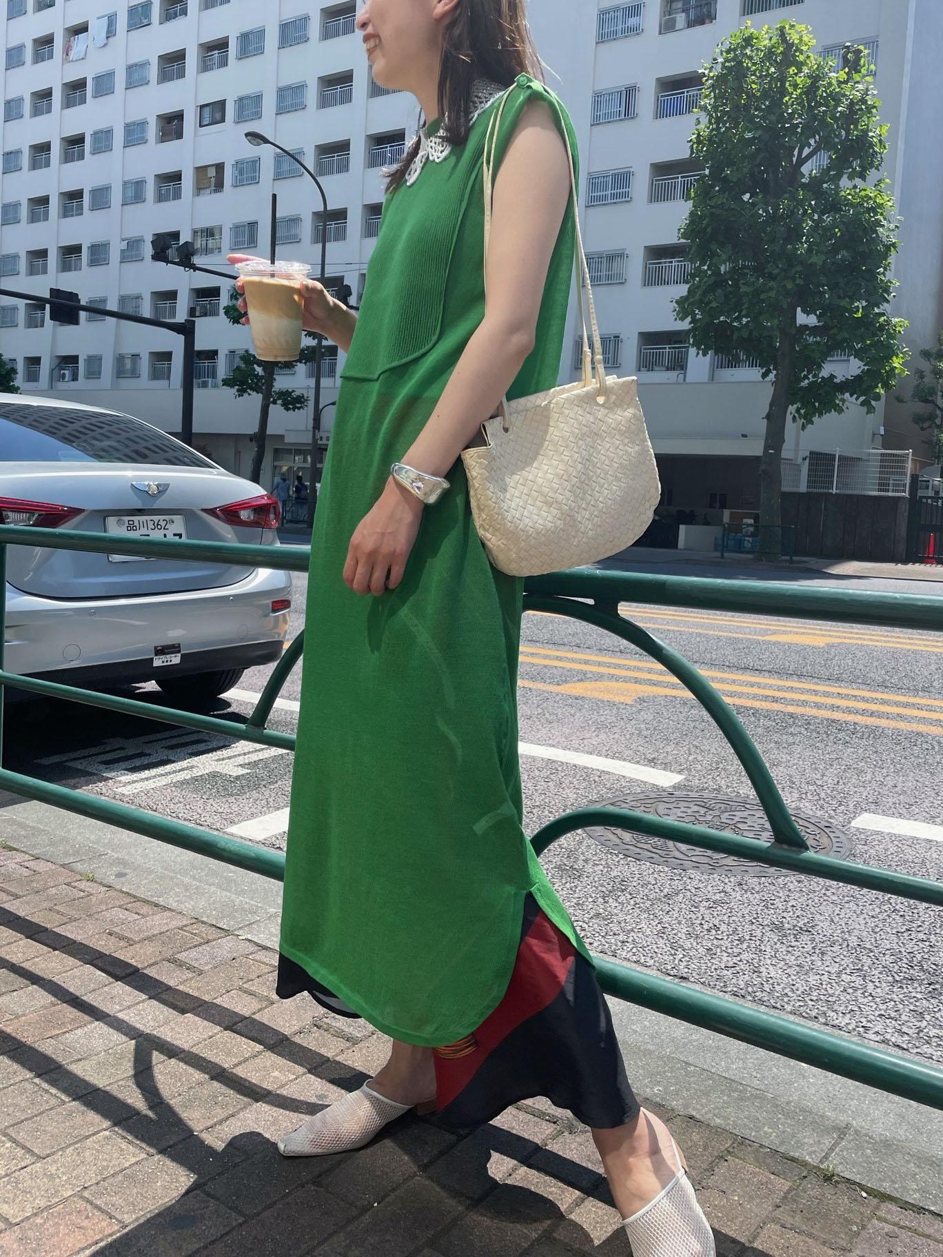kaori_SHIRT LIKE SHEER KNIT DRESS