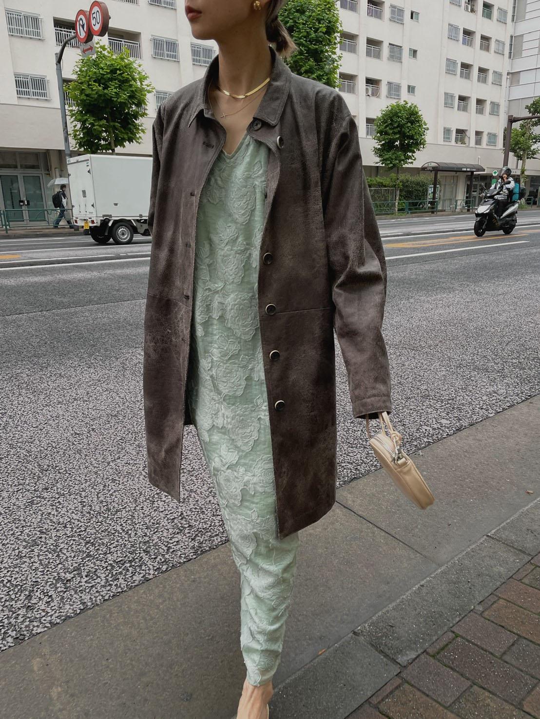 nao_FLOWER JACQUARD STRAIGHT DRESS