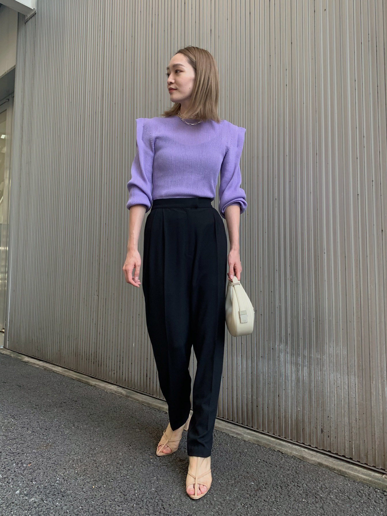 mai_GEORGETTE TAPERED PANTS