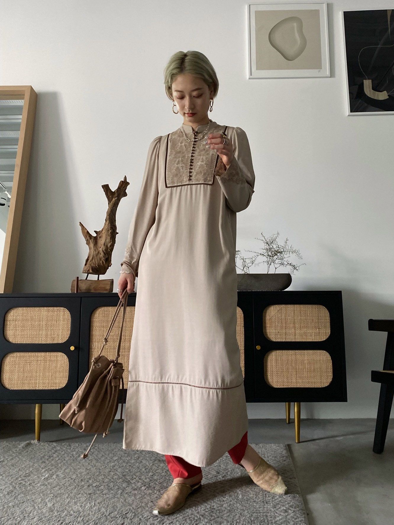shiho_ELFIN EMBROIDERY CAFTAN DRESS