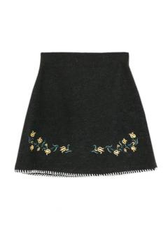 GARDEN STITCH MINI SKIRT