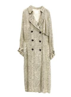 LEOPARD SPRING TRENCH COAT