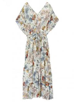 ART FLOWER OPEN DRESS