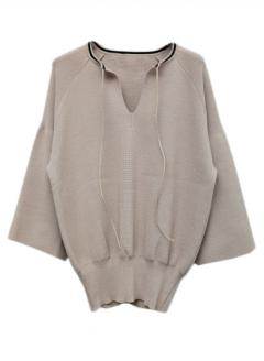NECK LINE PULLOVER