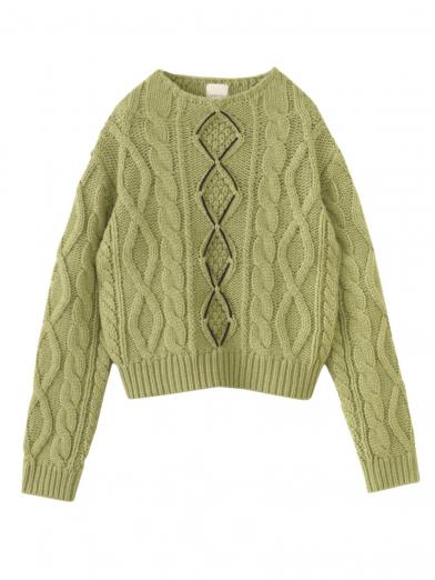 COMPACT BIG CABLE KNIT TOP