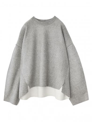 SEAM SLEEVE WOOL TOP