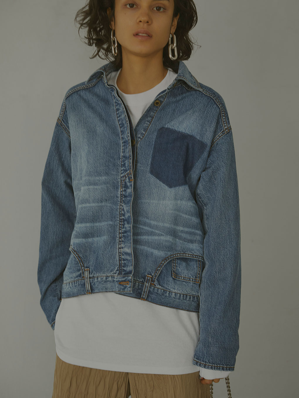 UPSIDE DOWN DENIM SHIRT