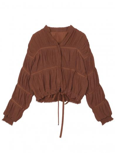 RANDOM PLEATS BLOUSE