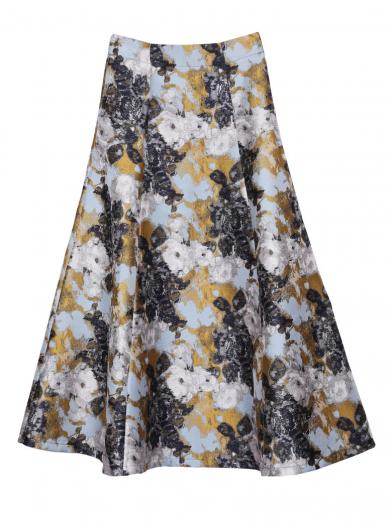 ABSTRACT FLOWER MERMAID SKIRT