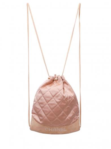 CHANEL PEARL LOGO QUILTING RUCKSACK