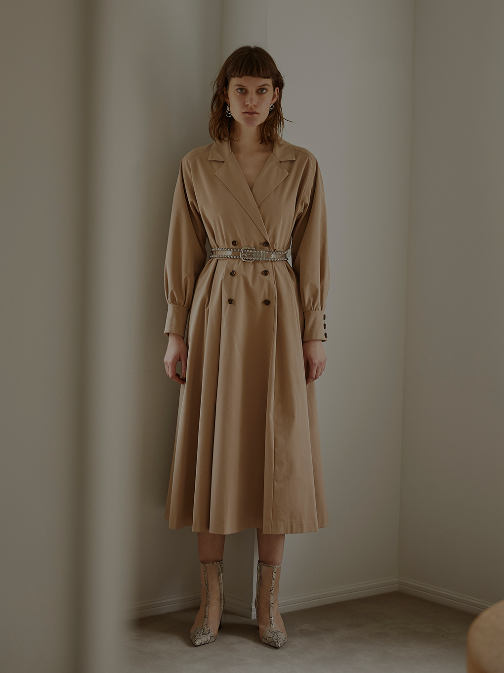 LONG COAT LIKE BELT DRESS