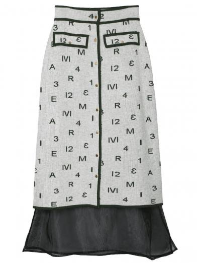 AMERI PASS CODE RETRO KNIT SKIRT