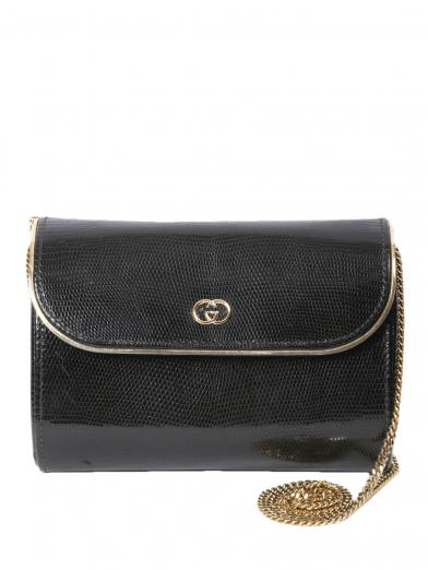 GUCCI HARD CASE CHAIN SHOULDER BAG
