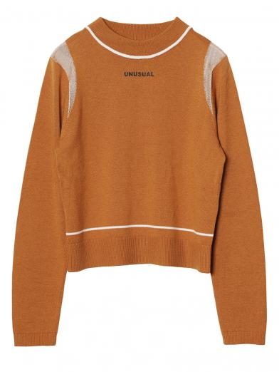 UNUSUAL LINE LOGO KNIT TOP