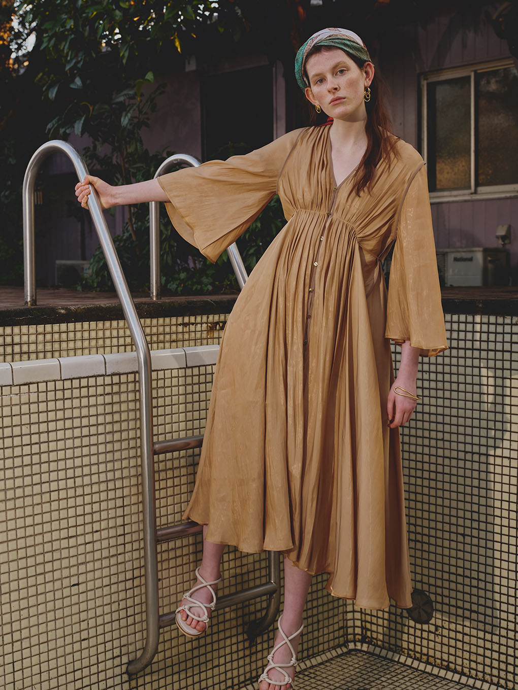 MEDI GATHER NEGLIGEE DRESS