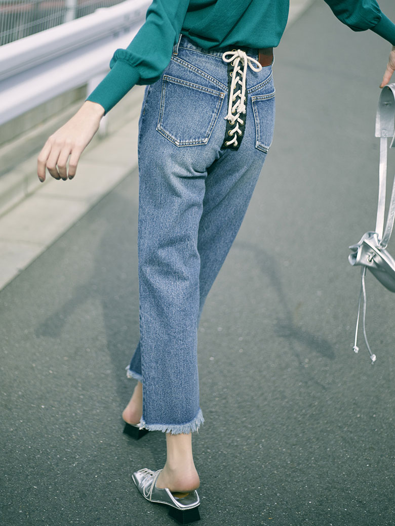 ROPE LACE UP DENIM
