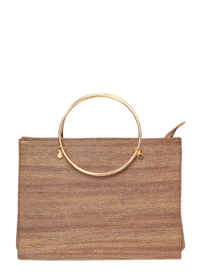 WOOD LIKE HAND BAG