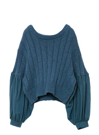 LANTERN SLEEVE SUMMER KNIT