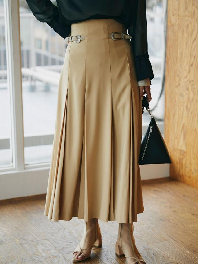 TUCK PENCIL SKIRT