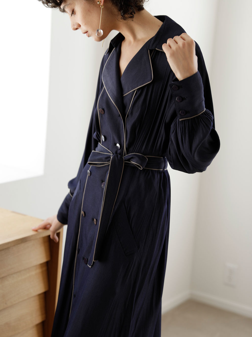LOOSE TRENCH LIKE DRESS