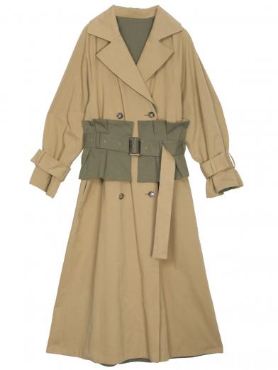 CORSET REVERSIBLE TRENCH COAT