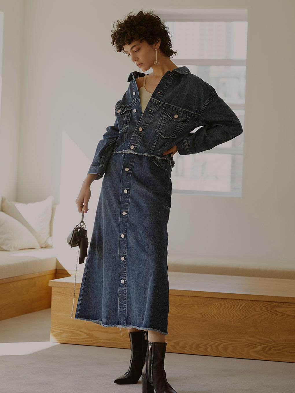 4WAY DENIM DRESS COAT