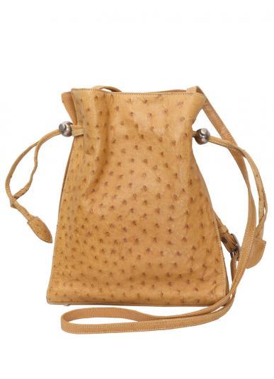 GENUINE OSTRICH 巾着 SHOULDER BAG