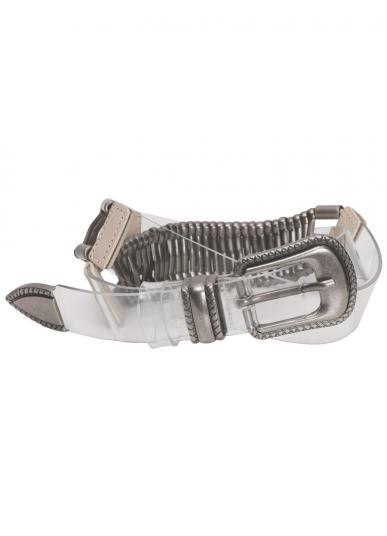 CLEAR METAL ANTIQUE BELT